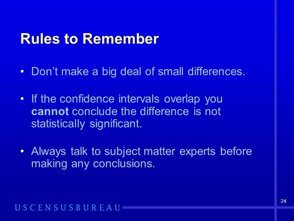 24 Rules to Remember Dont make a big deal of small differences.