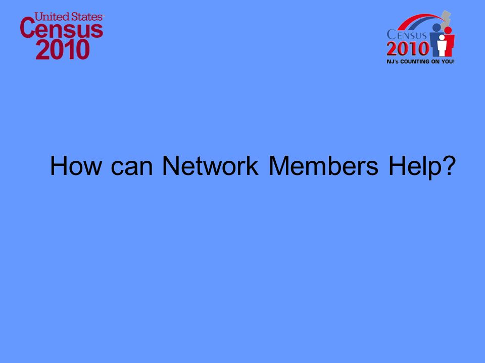 How can Network Members Help