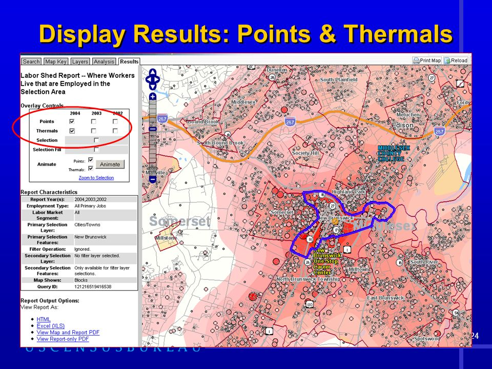 24 Display Results: Points & Thermals