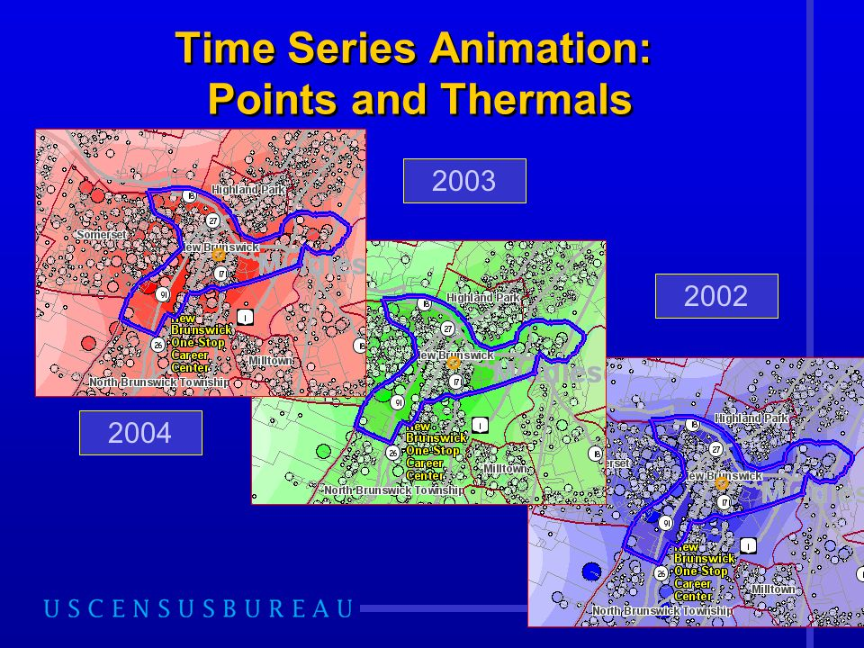 26 Time Series Animation: Points and Thermals 2004 2003 2002