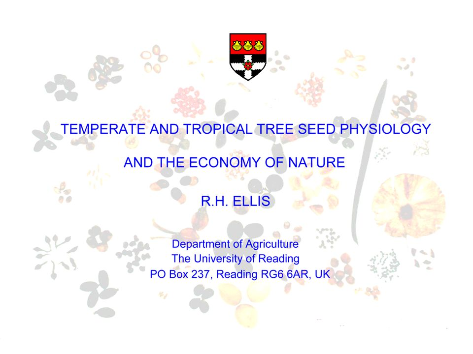 Forest tree seed research Independent Isolated from seed research more widely & Timber Industry/Forest Environment focused Research Organisations specialising in above tend to be …
