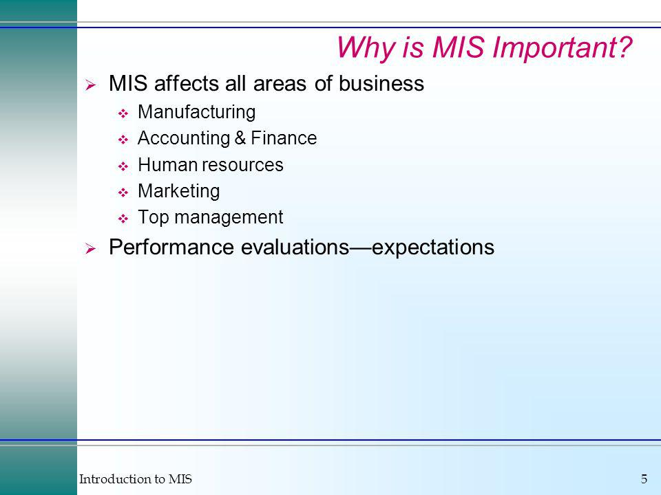 Introduction to MIS16 Business Trends & Implications Temporary Workers Managing through rules Finding and evaluating workers Coordination and control Personal advancement through technology Security Internationalization Communication Product design System development and programming Sales and marketing Service Orientation Management jobs are information jobs Customer service requires better information Speed