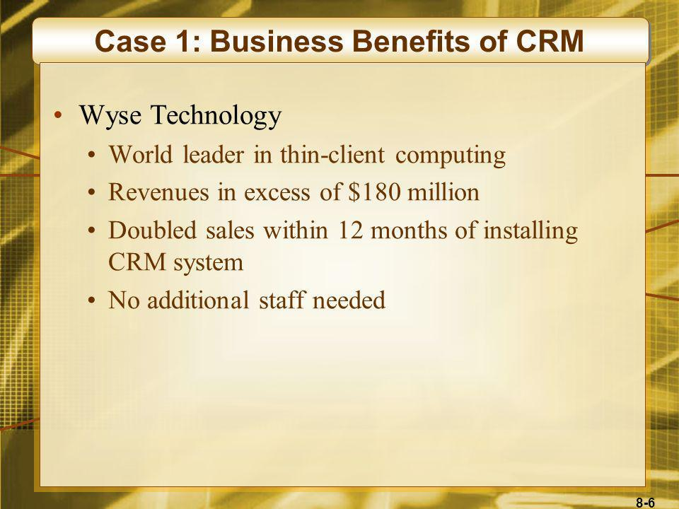 8-17 The Three Phases of CRM