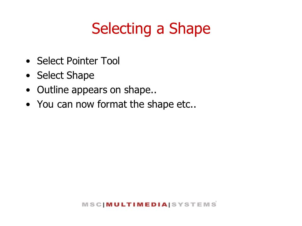 Local Formatting When you apply a style to a shape, you can do one of the following: Preserve any local formatting in the shape Remove all local formatting and force the shape to use only the style s formatting