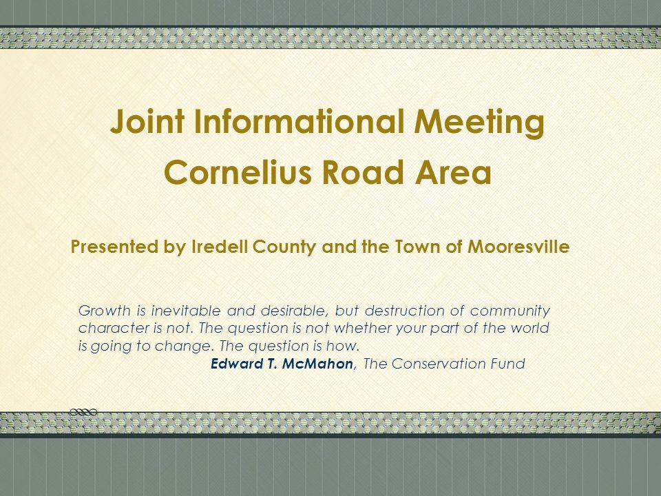 Existing Cornelius Road SAP Area Map