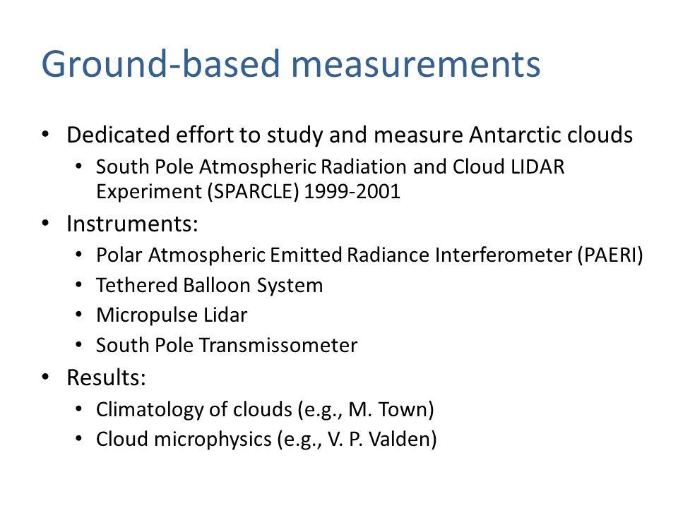 Active remote sensing: Lidar Lidar measurements onboard an LC-130 flown between McM and South-Pole, Jan.