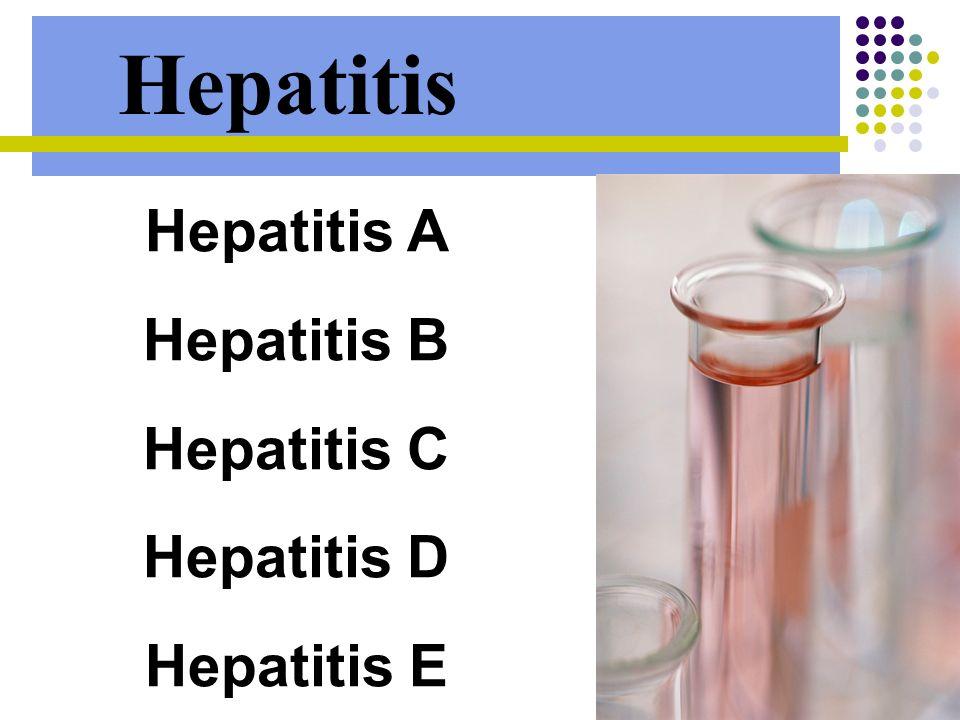 Hepatitis Hepatitis A Hepatitis B Hepatitis C Hepatitis D Hepatitis E