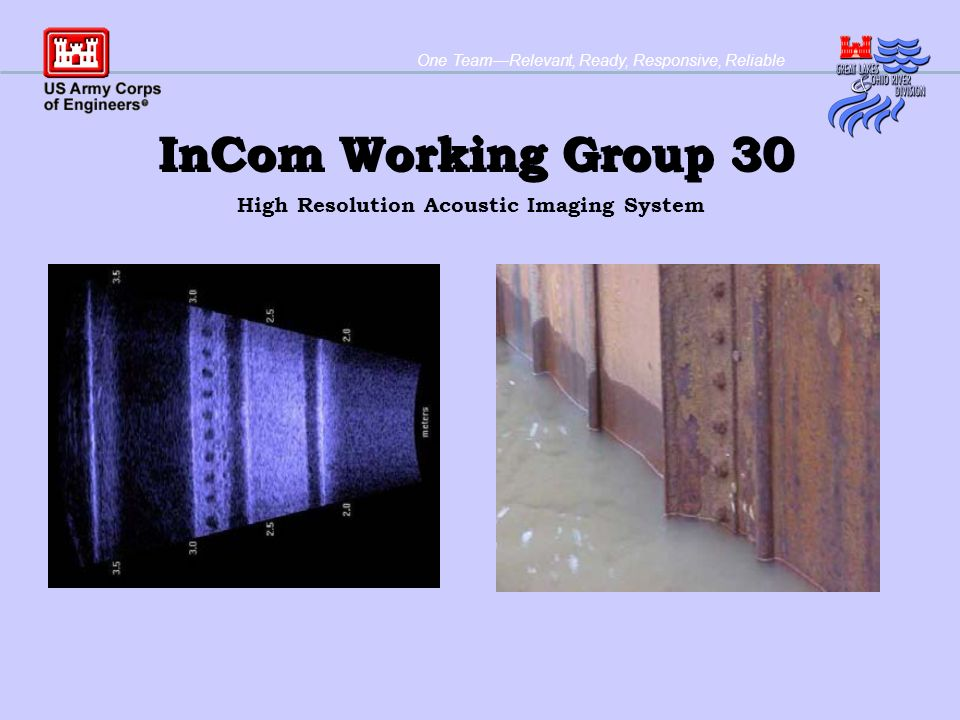 One TeamRelevant, Ready, Responsive, Reliable InCom Working Group 30 High Resolution Acoustic Imaging System
