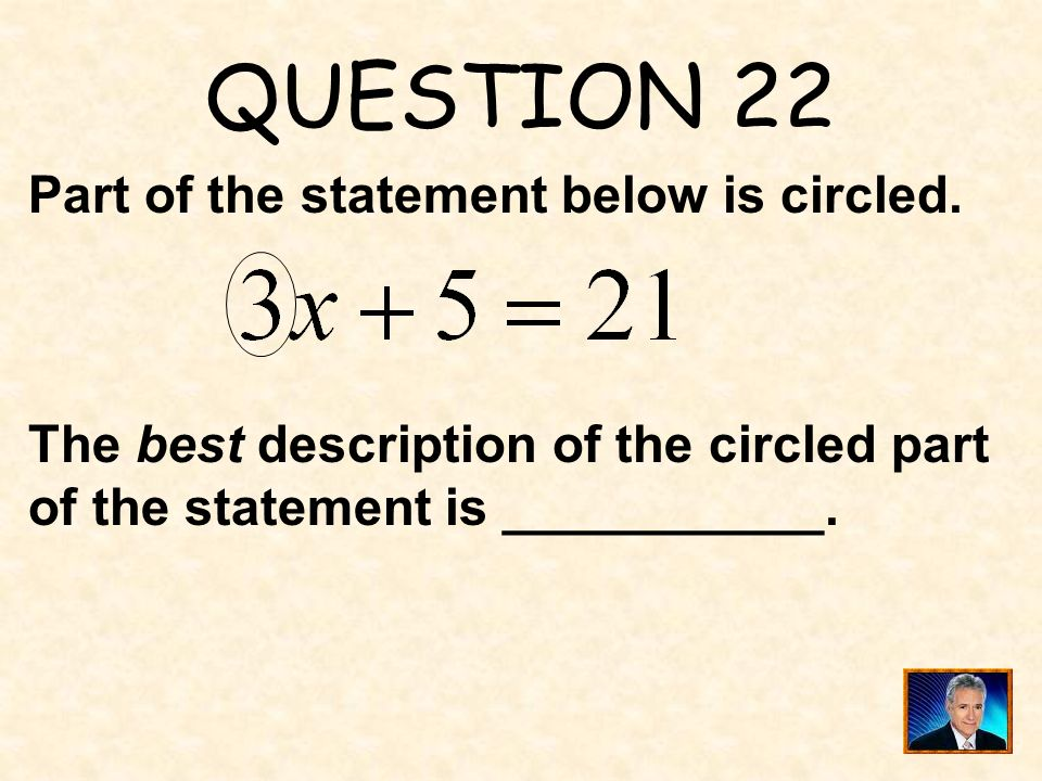 ANSWER 21 What is 64 ?