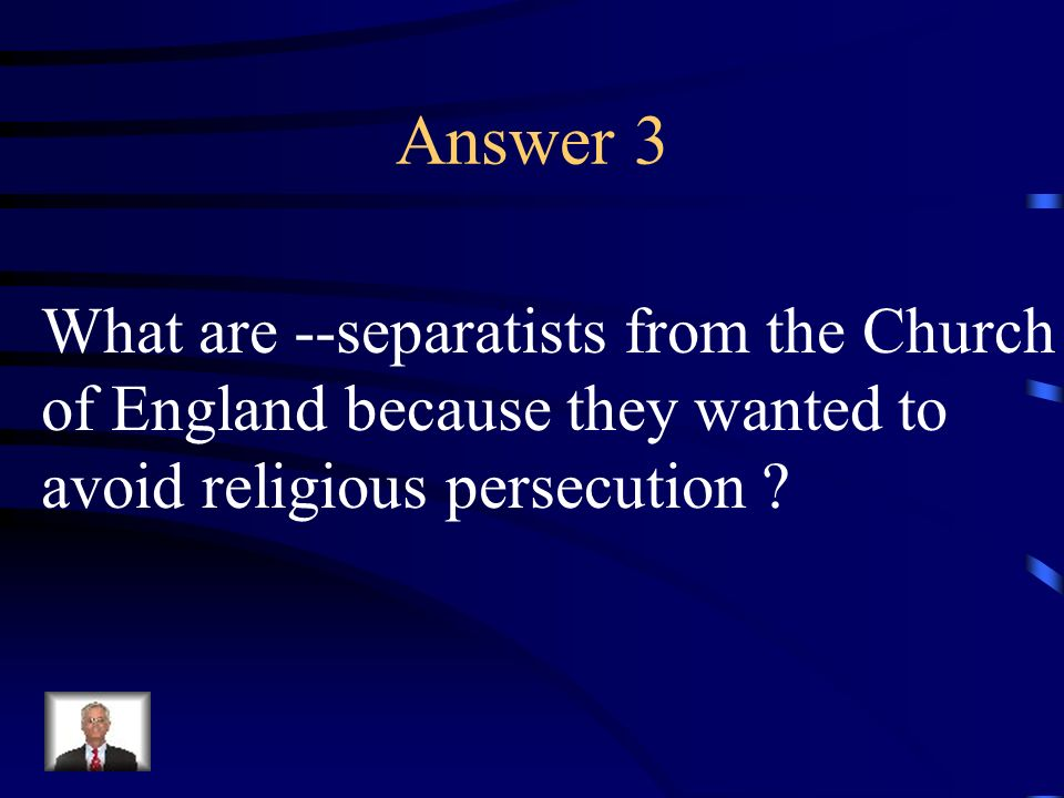 Question 3 Plymouth colony was established by this group for this reason.