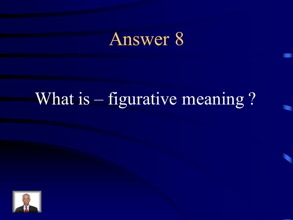 Question 8 A symbolic interpretation of written work.