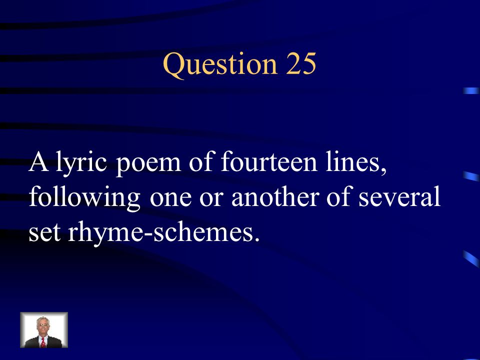 Answer 24 What is – free verse
