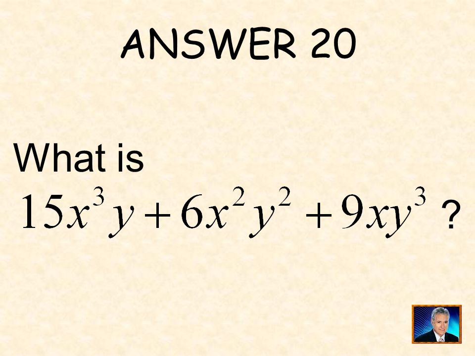 QUESTION 20 is equivalent to