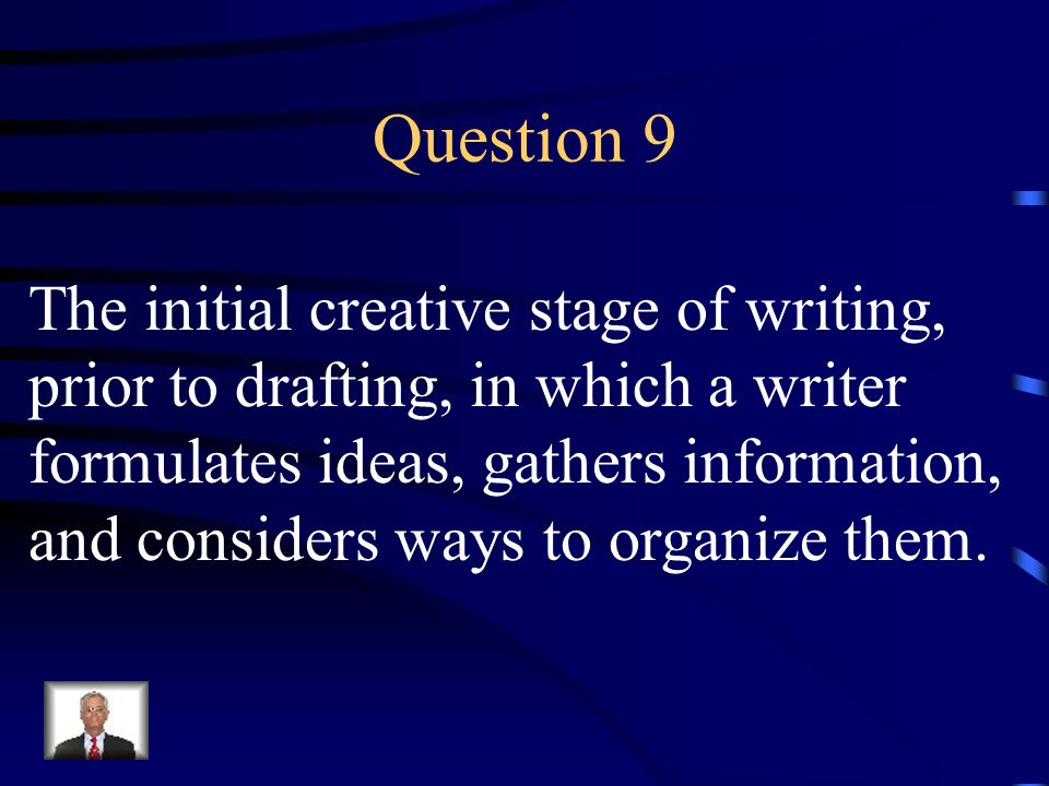 Answer 8 What is – the main idea ?