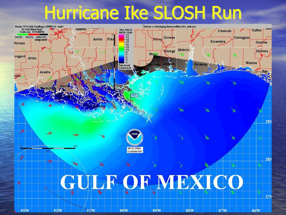 Hurricane Ike SLOSH Run