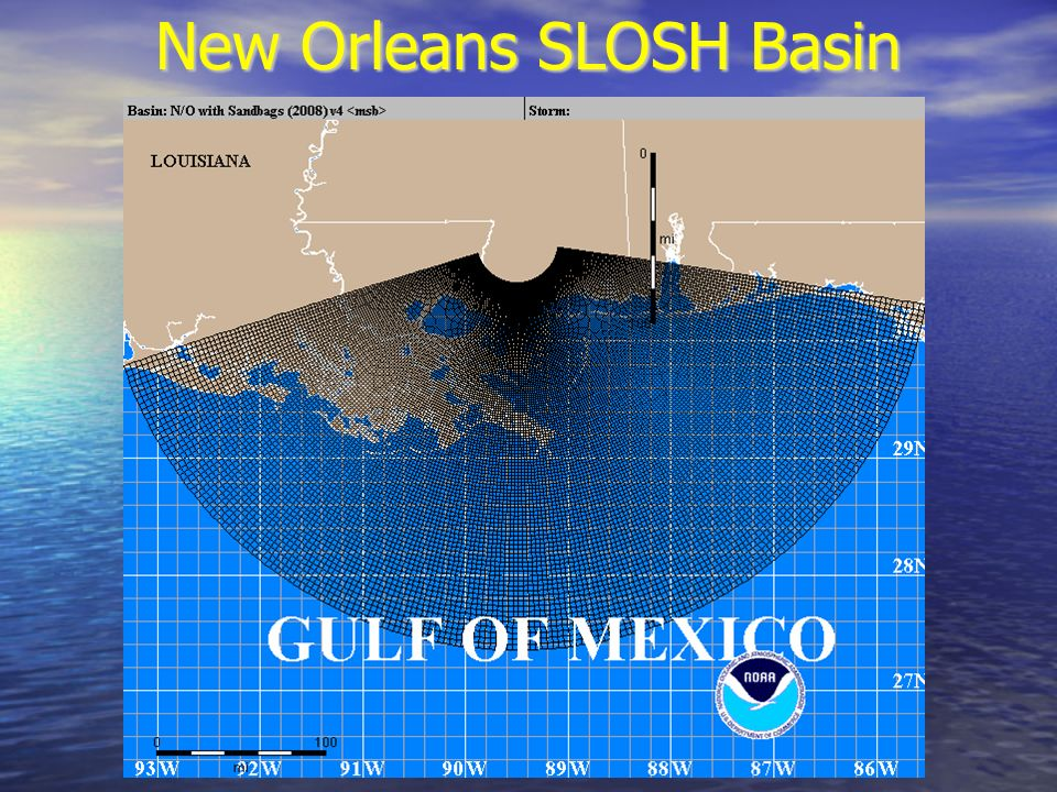 New Orleans SLOSH Basin
