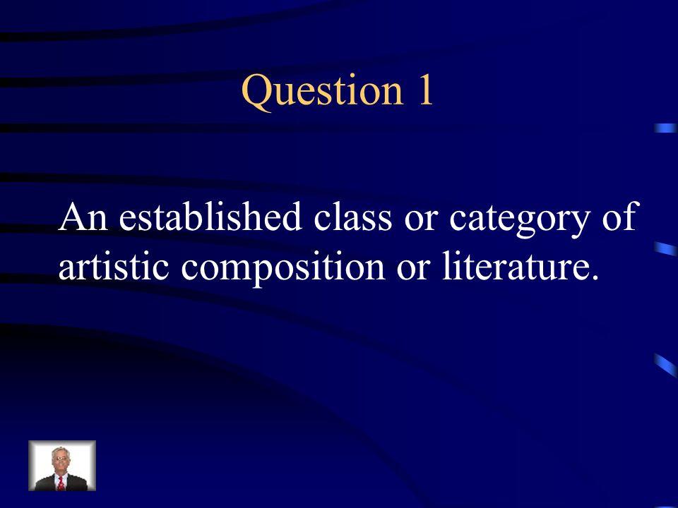 Jeopardy Q 1 Q 2 Q 3 Q 4 Q 5 Q 6Q 16Q 11Q 21 Q 7Q 12Q 17Q 22 Q 8Q 13Q 18 Q 23 Q 9 Q 14Q 19Q 24 Q 10Q 15Q 20Q 25 Final Jeopardy Literature Terms I