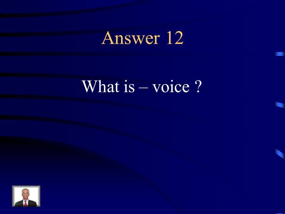 Question 12 The narrative point of view, whether its first, second, or third person.