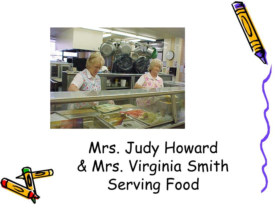 Mrs. Judy Howard & Mrs. Virginia Smith Serving Food
