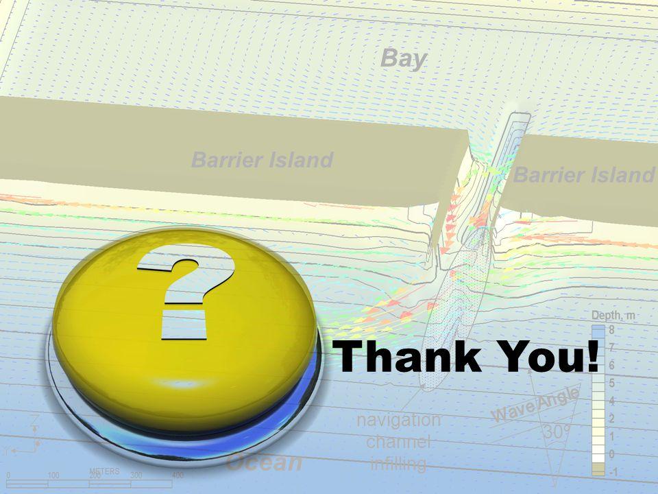 Barrier Island Ocean Bay navigation channel infilling 30º Thank You!