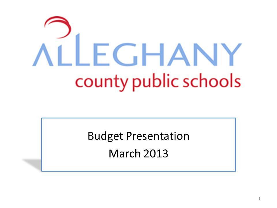Budget Presentation March 2013 1