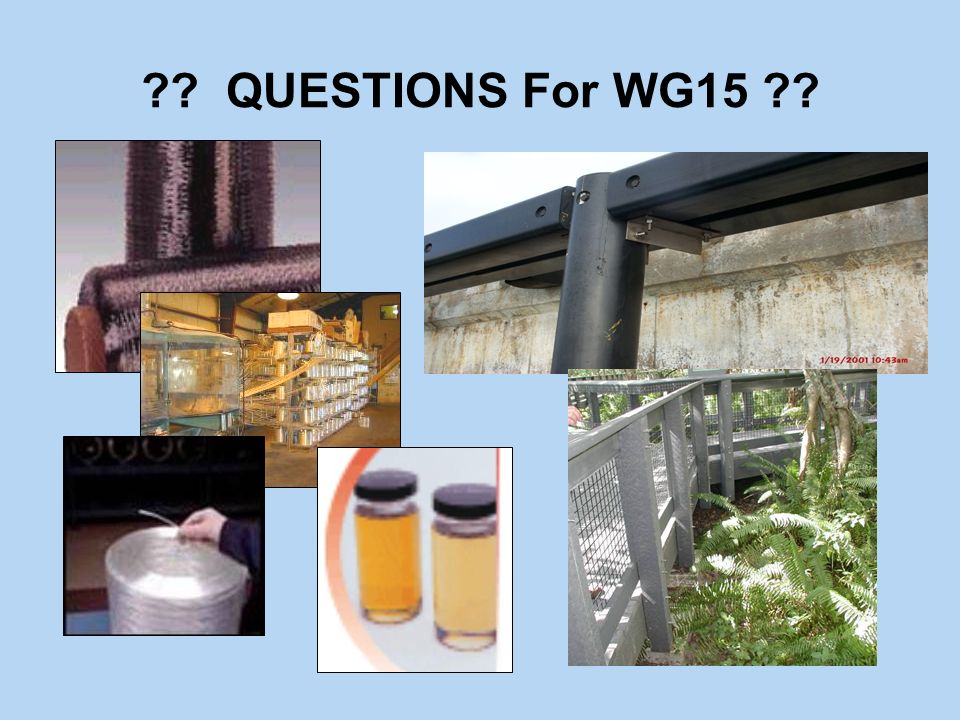 ?? QUESTIONS For WG15 ??