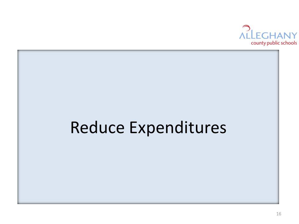 Reduce Expenditures 16