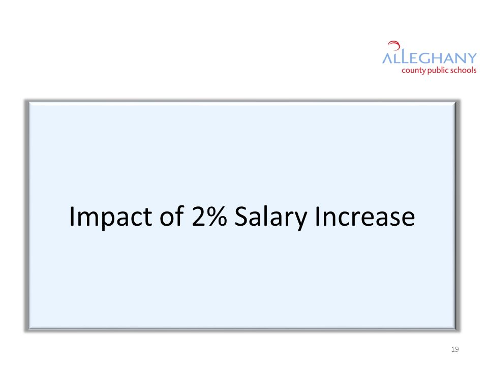 Impact of 2% Salary Increase 19