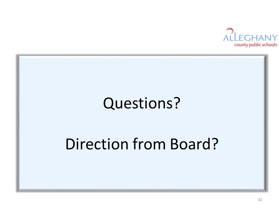 Questions Direction from Board 42
