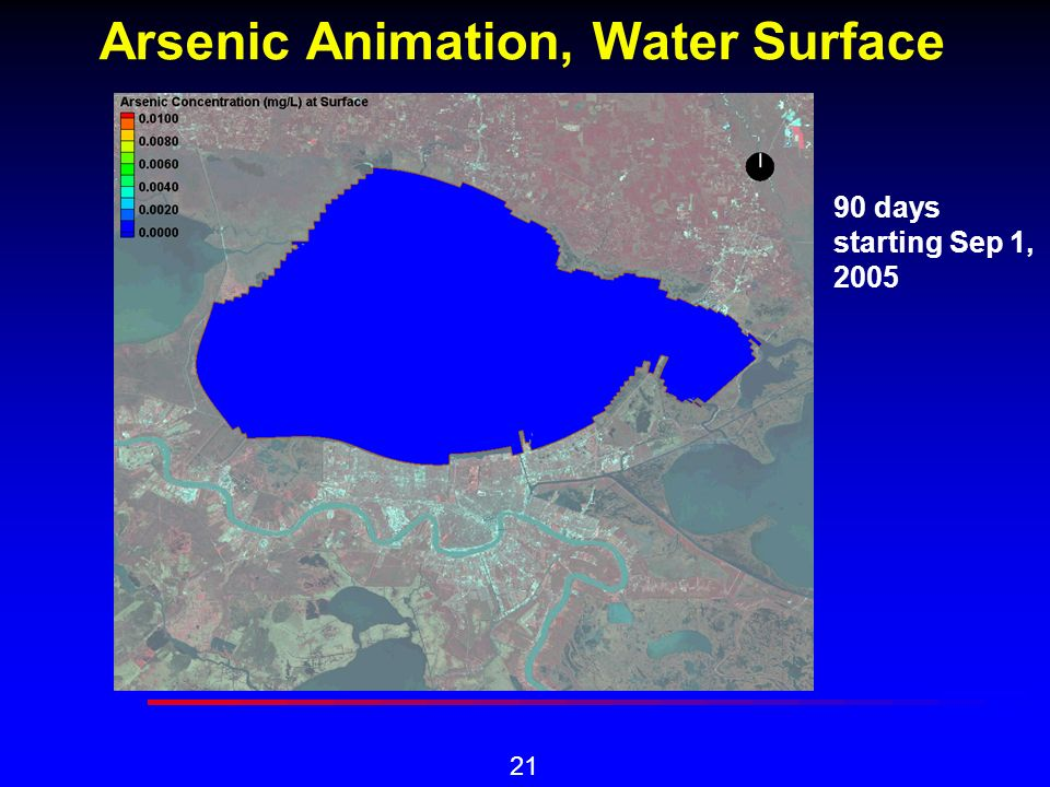 21 Arsenic Animation, Water Surface 90 days starting Sep 1, 2005