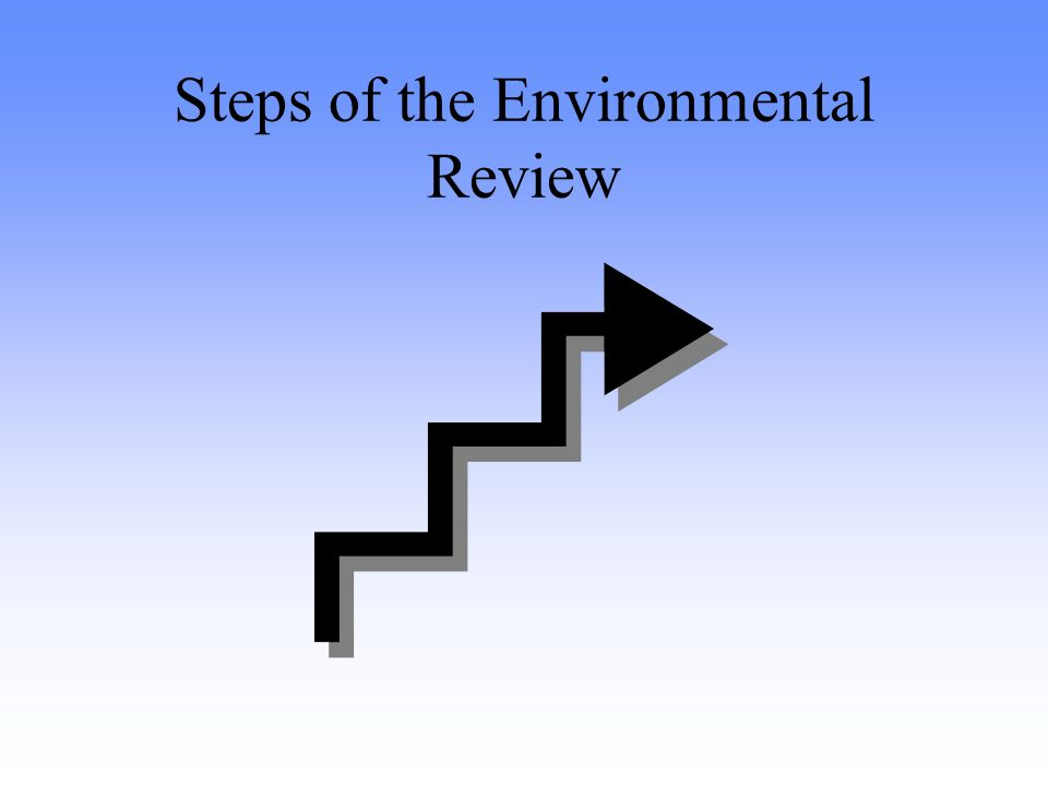 Steps of the Environmental Review
