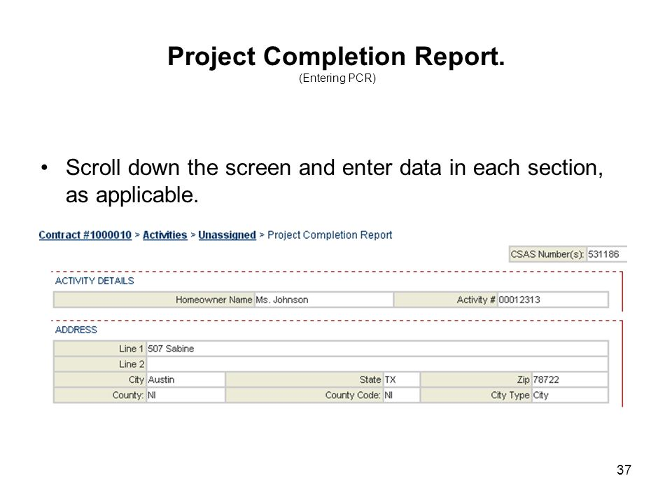 37 Project Completion Report.