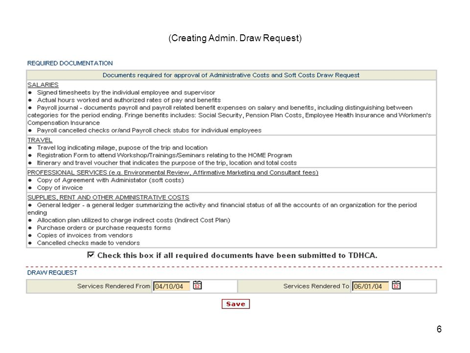 7 Required Documentation (Creating Admin.