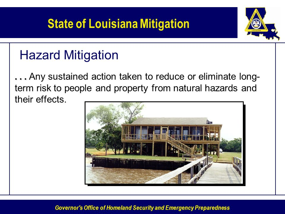 Governor s Office of Homeland Security and Emergency Preparedness State of Louisiana Mitigation Hazard Mitigation......
