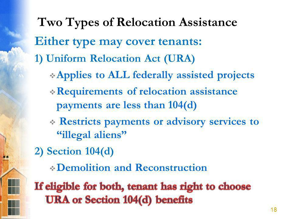 Two Types of Relocation Assistance 18