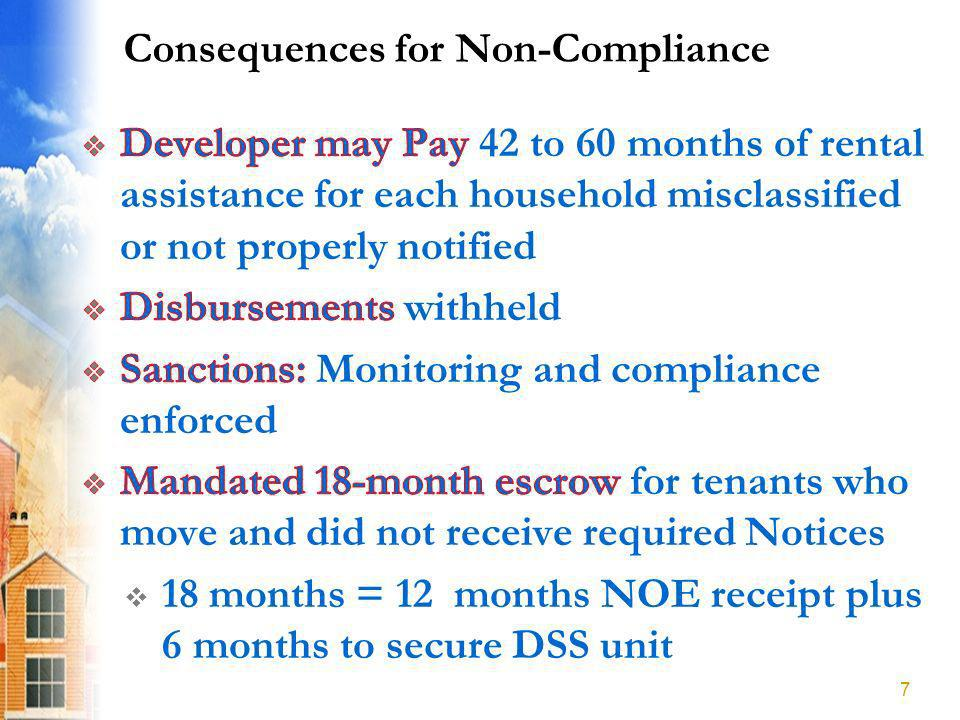 Consequences for Non-Compliance 7