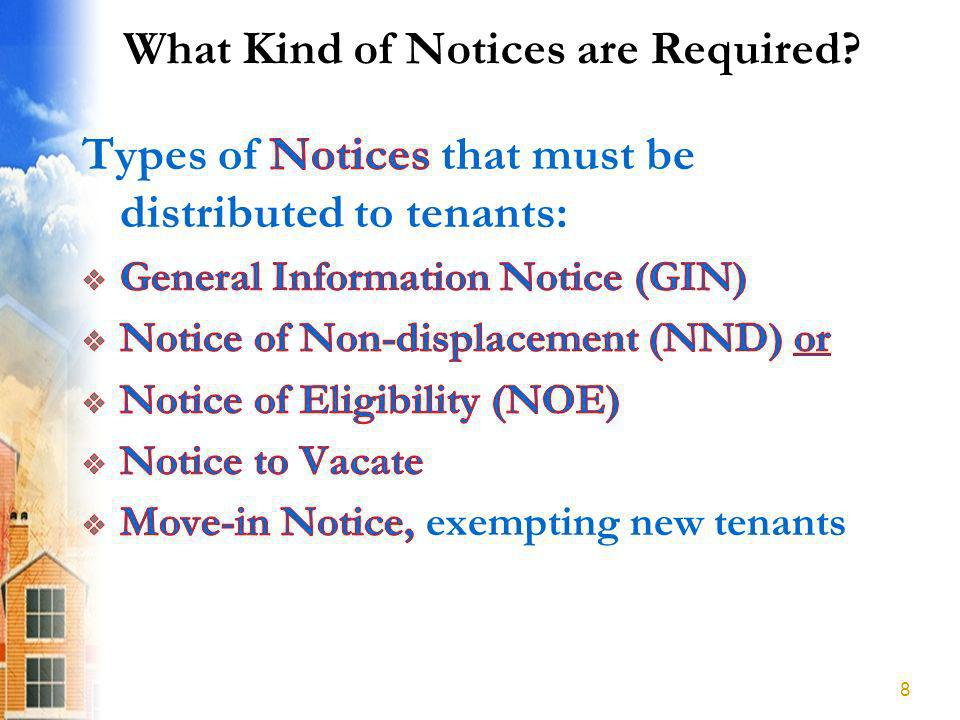What Kind of Notices are Required? 8