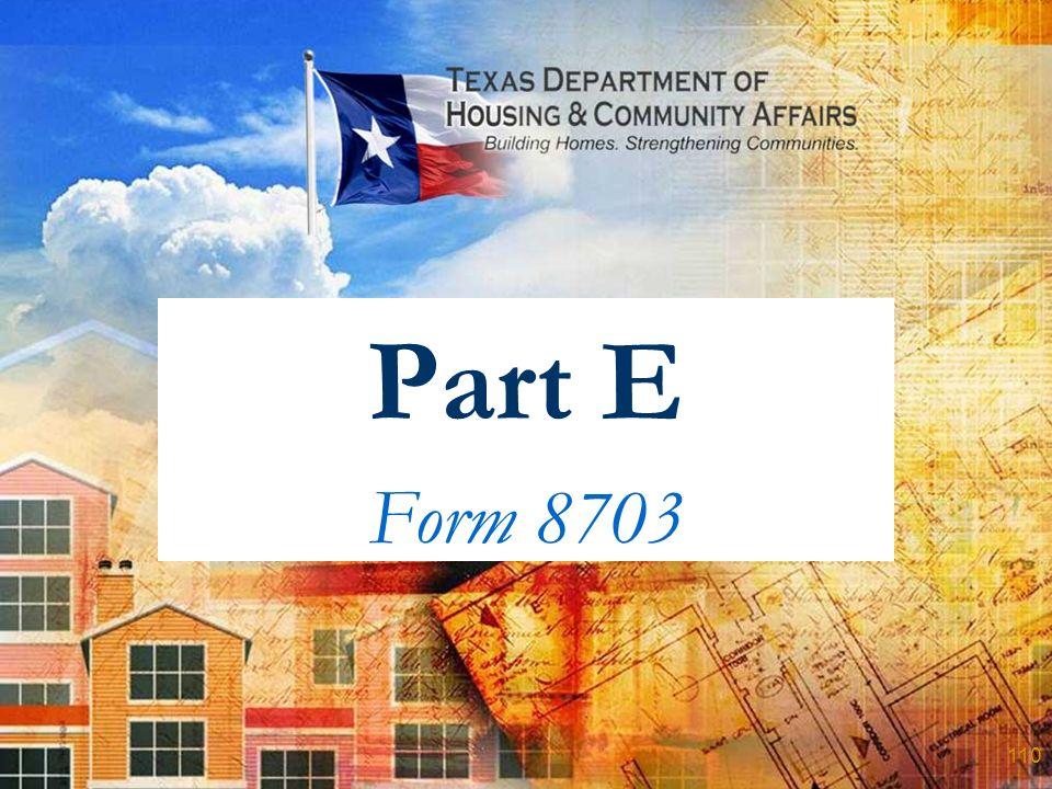 Part E Form 8703 110