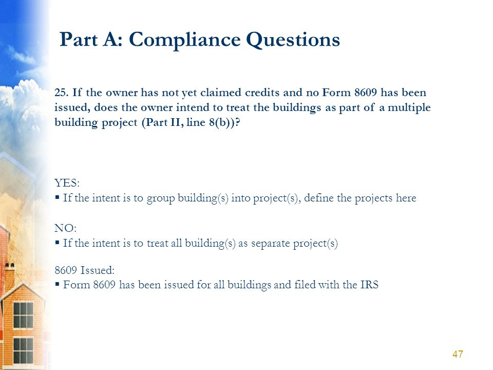 Part A: Compliance Questions YES: If the intent is to group building(s) into project(s), define the projects here NO: If the intent is to treat all bu