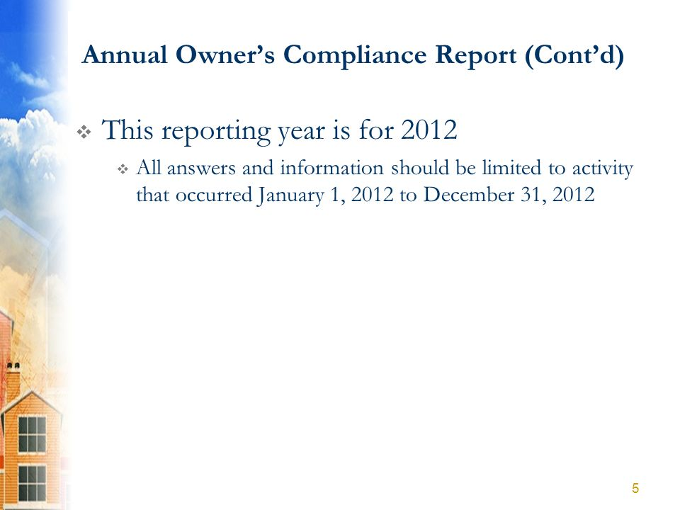 PART D: Owners Financial Certification ANNUAL OPERATING EXPENSE PAGE (Contd) Other Operating Expenses (Cont) 96