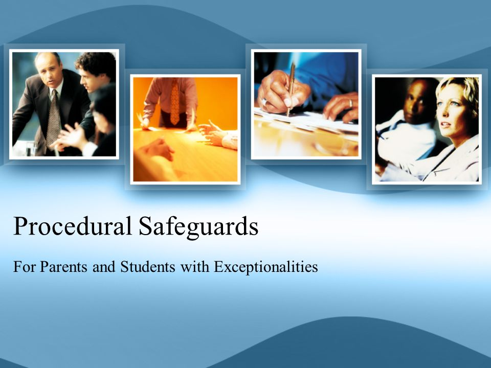 What are Procedural Safeguards.