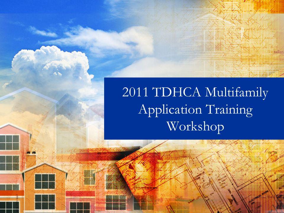 2011 TDHCA Multifamily Application Training Workshop