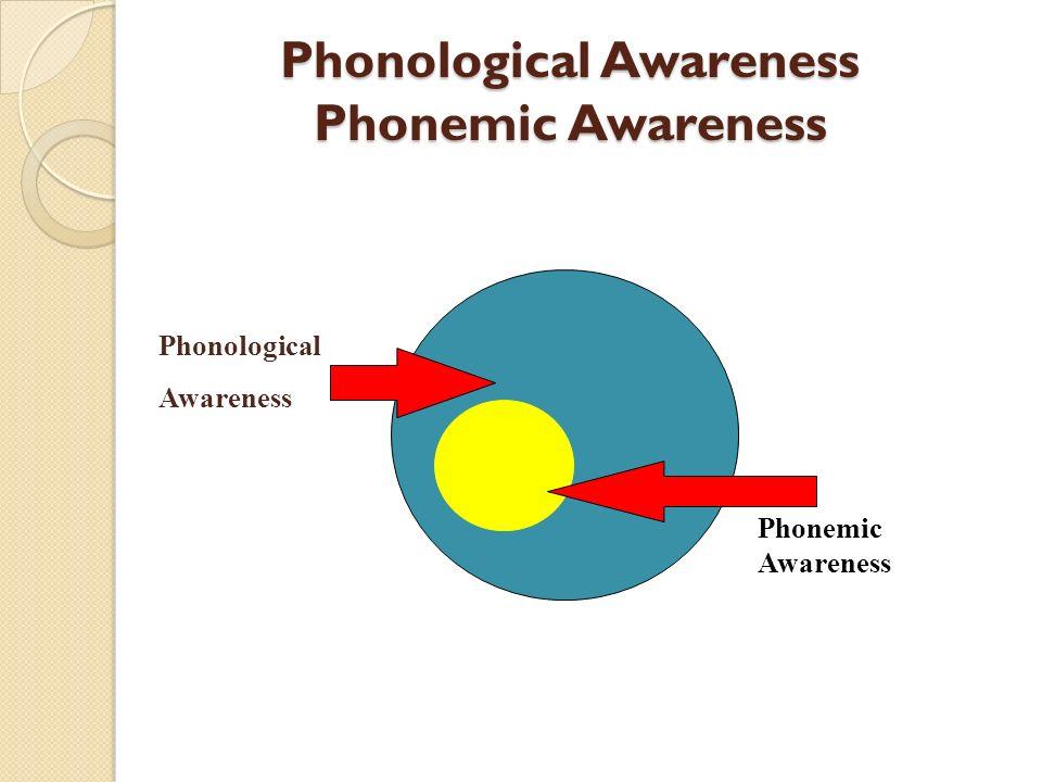 Phonological Awareness Phonemic Awareness Phonemic Awareness Phonological Awareness