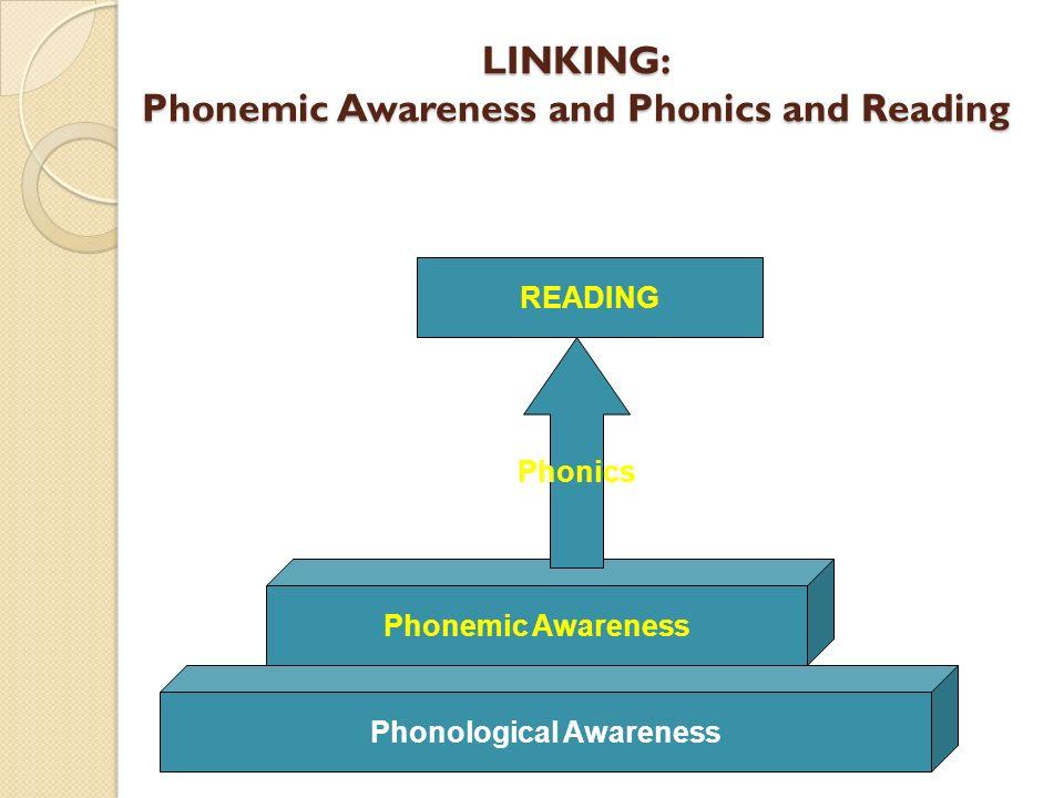 LINKING: Phonemic Awareness and Phonics and Reading Phonemic Awareness Phonics READING Phonological Awareness