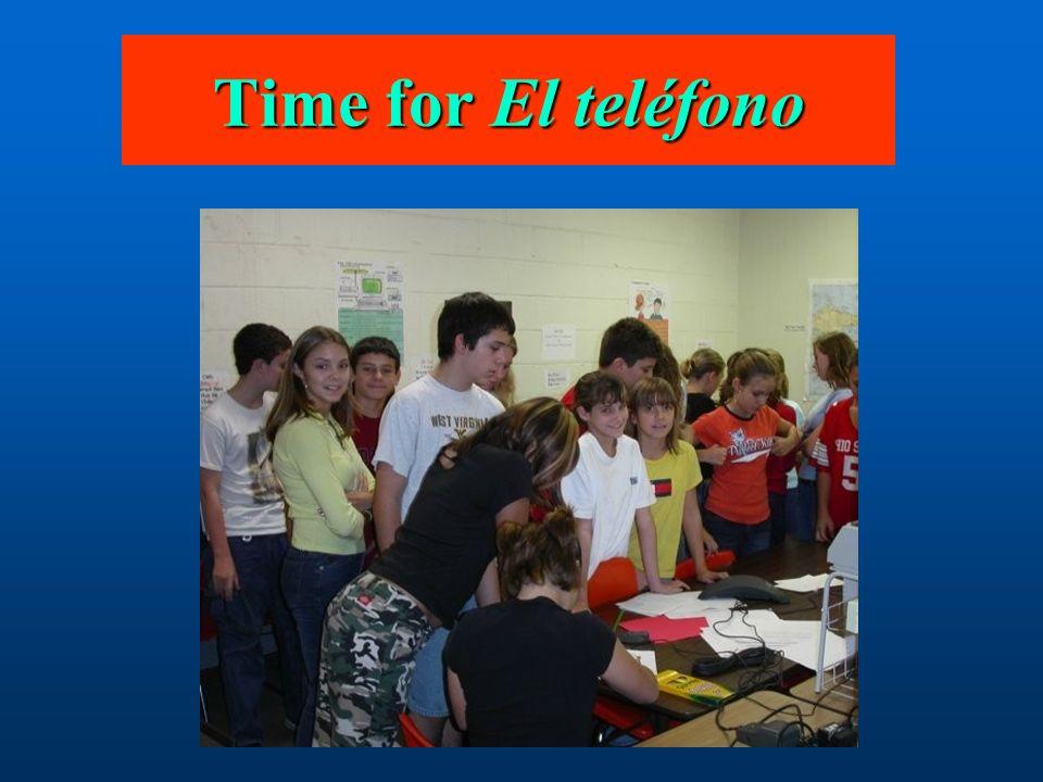 Time for El teléfono