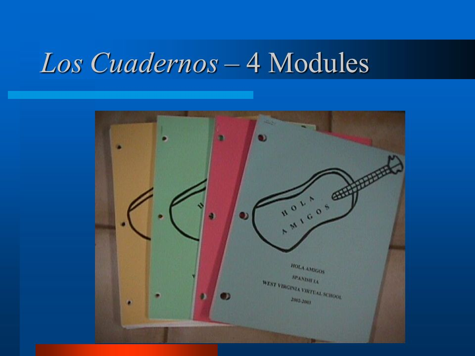 Los Cuadernos – 4 Modules