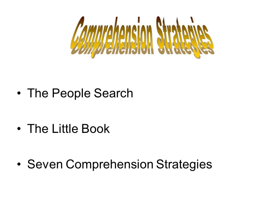 The People Search The Little Book Seven Comprehension Strategies