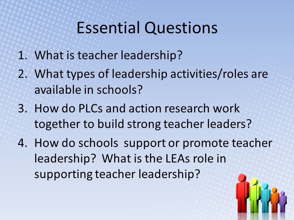 Essential Questions 1.What is teacher leadership.