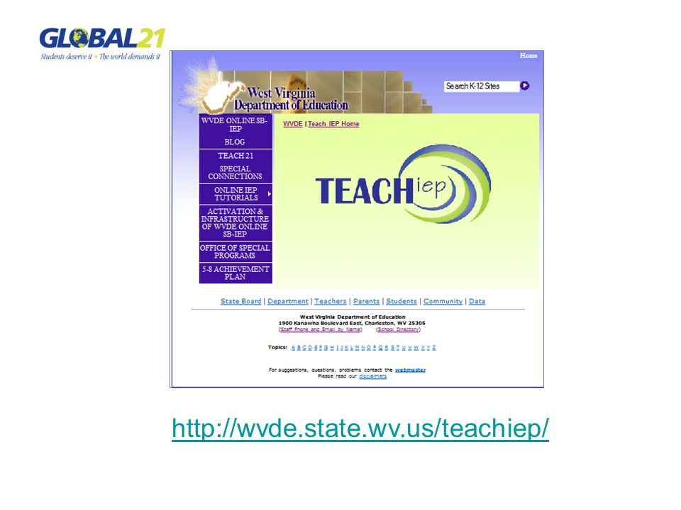 http://wvde.state.wv.us/teachiep/