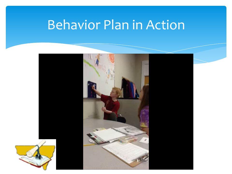 Behavior Plan in Action